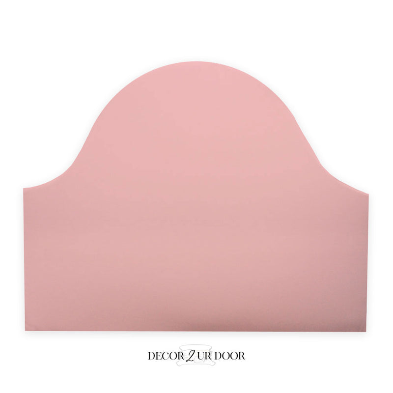Solid Blush Pink Padded Fabric Headboard