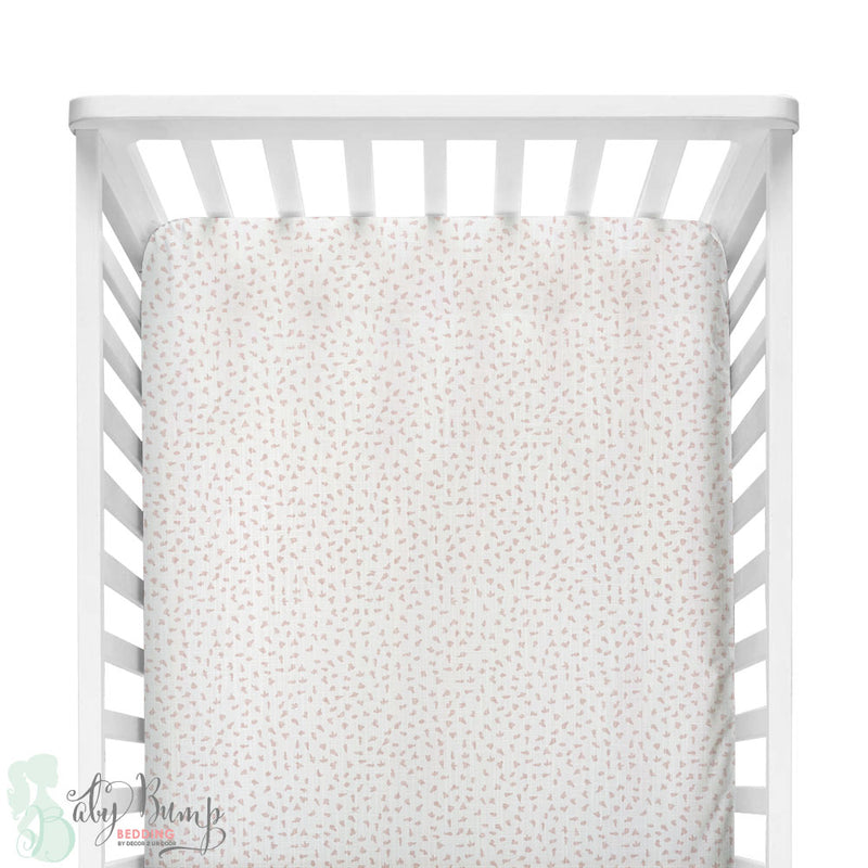 Blush Pink Dot Fitted Crib Sheet