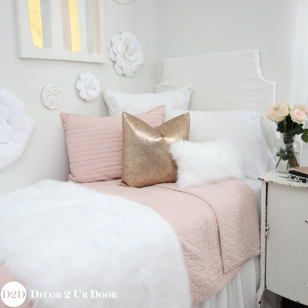 Solid Blush Pink Quilt