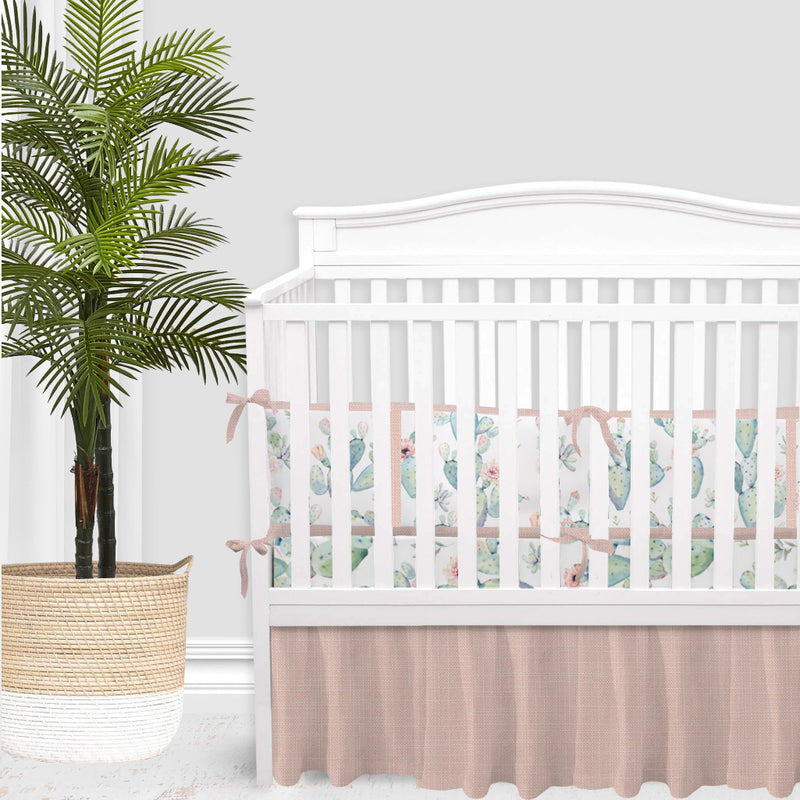 Boho Cactus Baby Girl Crib Bedding Set