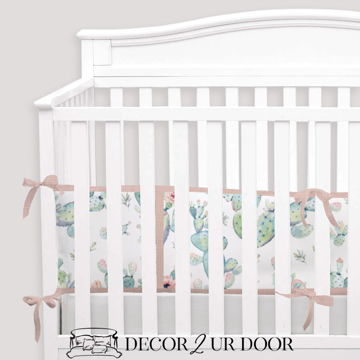 Boho Cactus 2-in-1 Crib Bumper/Rail Cover