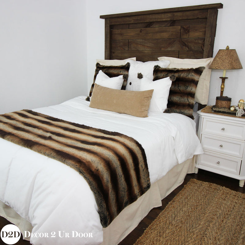 Brown Fur & White Designer Bedding Collection