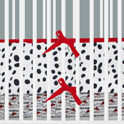 Black & White Dalmatian Print 2-in-1 Crib Bumper/Rail Cover