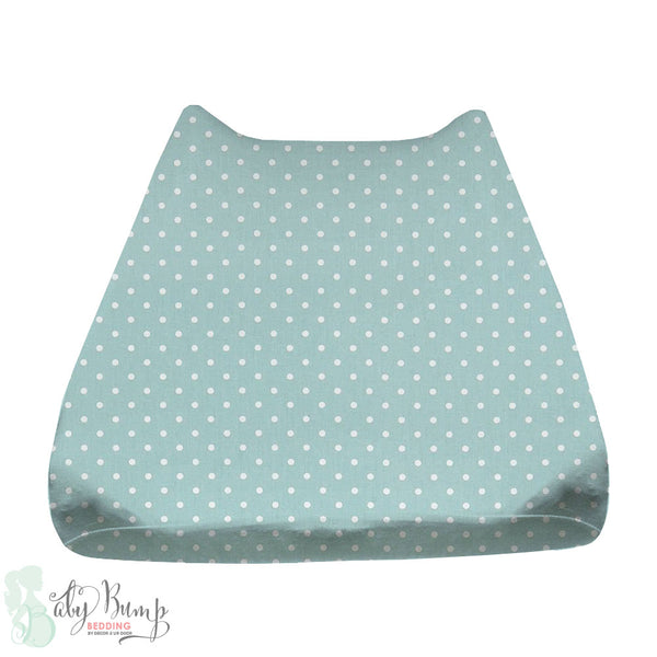 Canal Blue & White Polka Dots Baby Changing Pad Cover