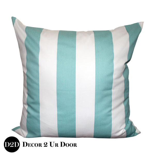 Canal Blue Stripes Euro Pillow Cover