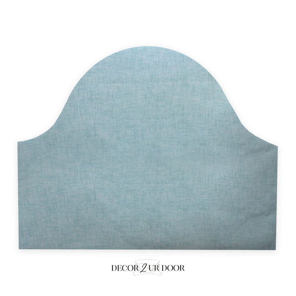 Canal Blue Jackson Padded Fabric Headboard