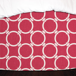 Candy Pink Links Designer Dorm Bed Skirt