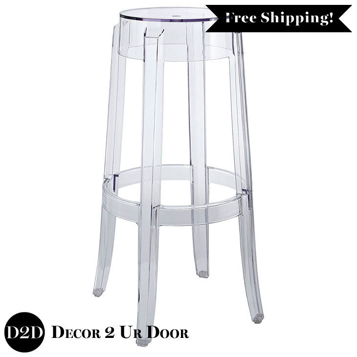 Modern Acrylic Clear Ghost Bar Stool