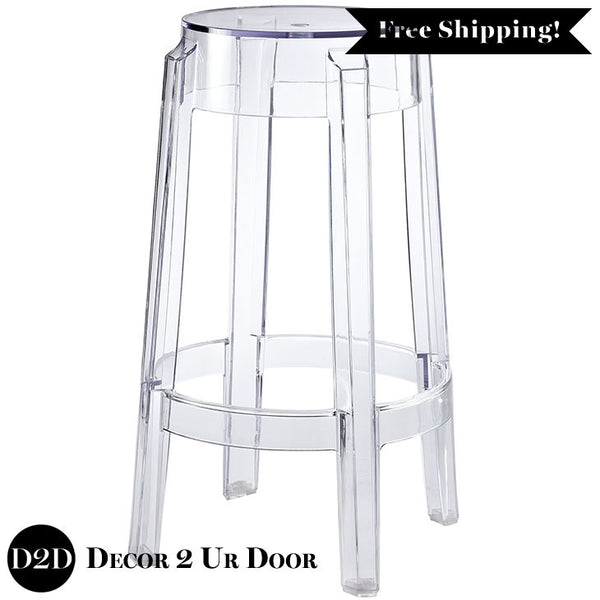 Modern Acrylic Clear Ghost Counter Stool