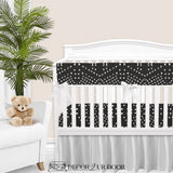 Charcoal Boho Tile Gender Neutral Baby Crib Bedding Set