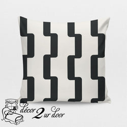 Charcoal Rhyme Designer Euro Pillow Cover
