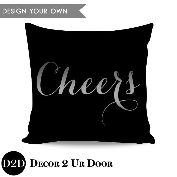Cheers Square Throw Pillow Cover