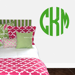 Circle Monogram Personalized Vinyl Wall Decal