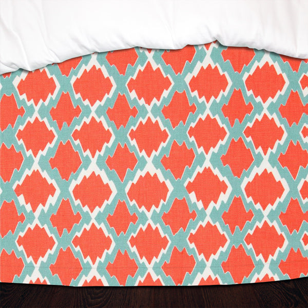 Coastal Gemstone Designer Dorm Bed Skirt