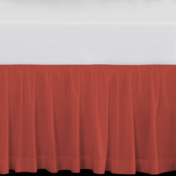 Solid Coral Extra Long Dorm Bed Skirt