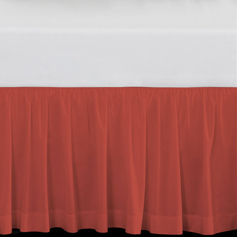 "Solid Coral 15"" Drop Bed Skirt"