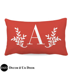 Solid Coral Lumbar Nursery Throw Pillow Cover
