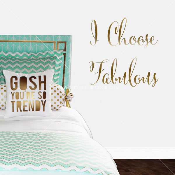 Custom Word or Phrase Personalized Vinyl Wall Decal