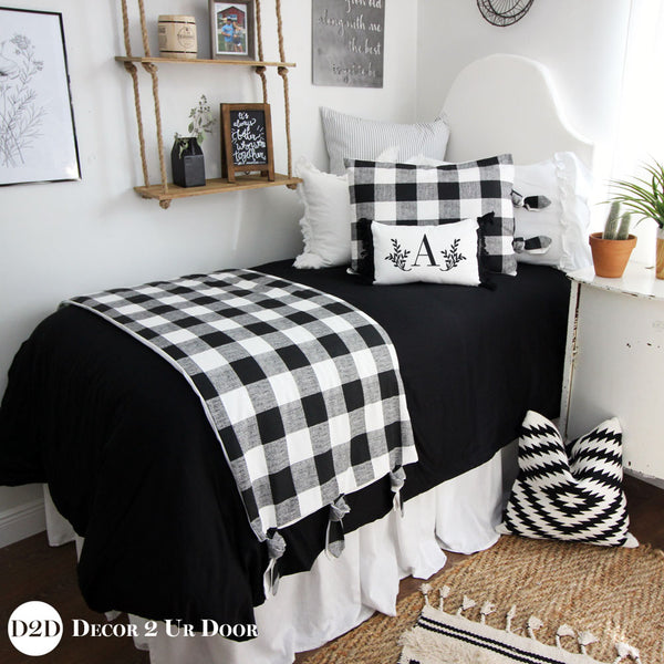 Solid Black Duvet Cover and Sham Set