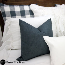 Gunmetal Jackson Square Pillow Cover