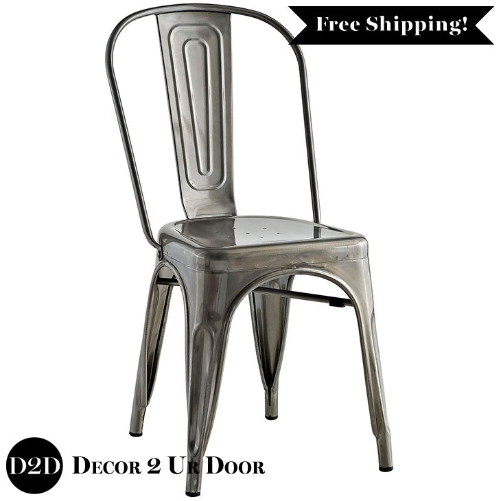 Farmhouse Metal Side Chair