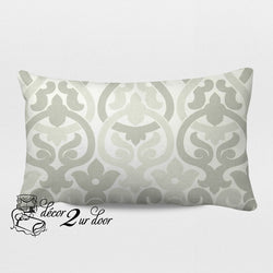 French Grey Alex Designer Lumbar Pillow Cover