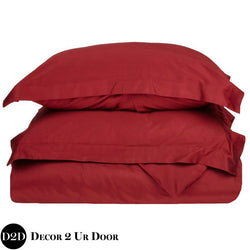Solid Garnet Red Duvet Cover and Sham Set