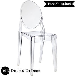 Modern Clear Acrylic Ghost Side Chair