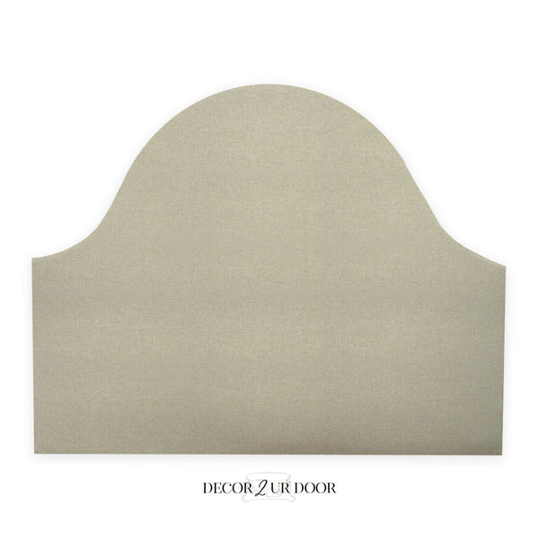Metallic Gold Speck Padded Fabric Headboard