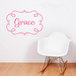 Grace Name Personalized Vinyl Wall Decal