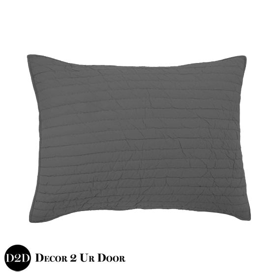 Solid Grey Quilted Sham