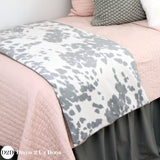 Blush Pink & Grey Cowhide Dorm Bedding Set
