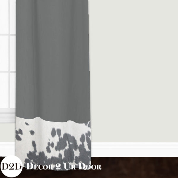 Grey Cowhide Closet + Window Curtain