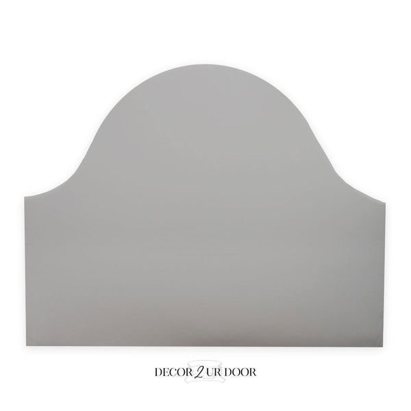 Solid Grey Padded Fabric Headboard