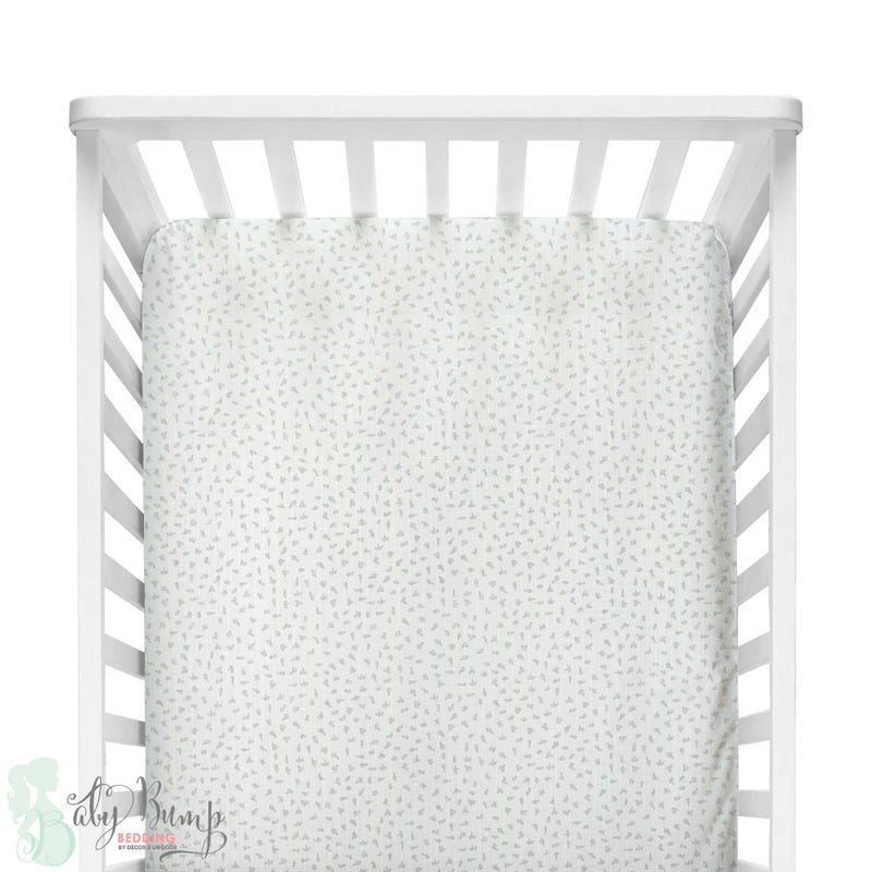 Grey Dot Fitted Crib Sheet