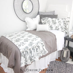 Grey Floral Designer Bedding Collection