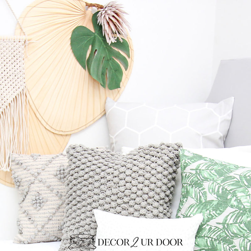 Grey and Green Leaf Designer Bedding Collection