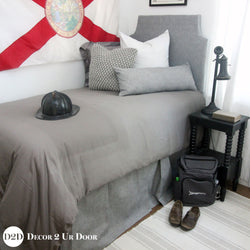 Grey Out Guys Dorm Bedding Set