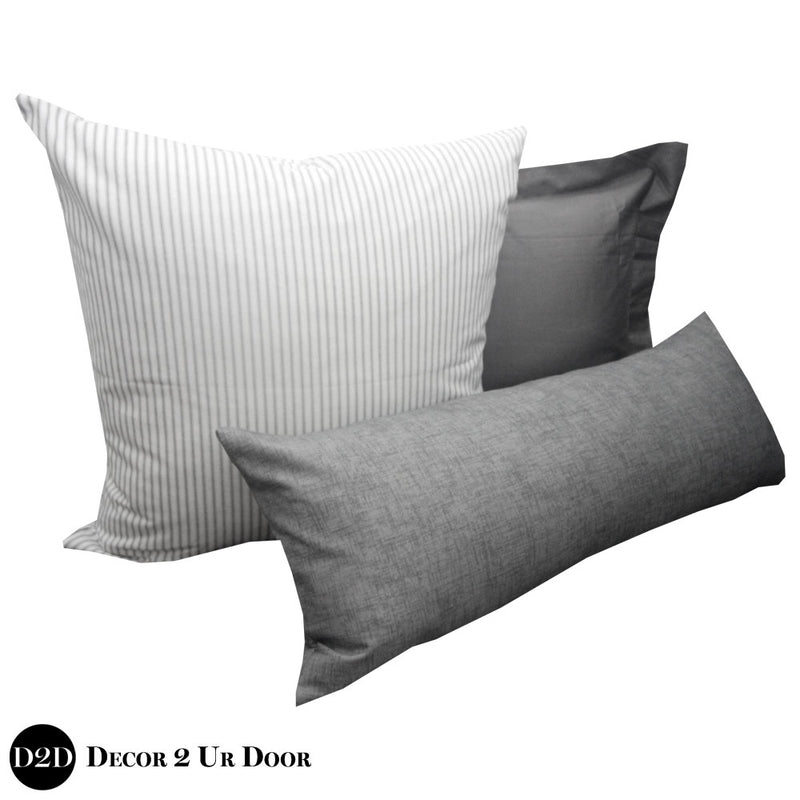 Grey Out Pillow Pile