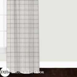 Grey Plaid Custom Window Curtain/Closet Panel