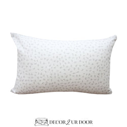 Grey Dot Lumbar Pillow Cover