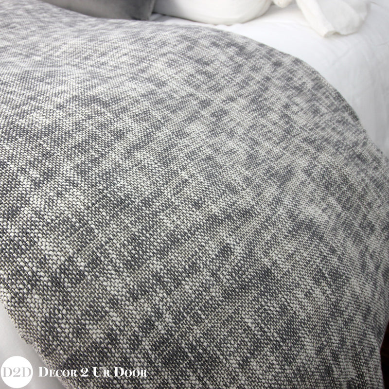 Grey Textured Duvet Cover