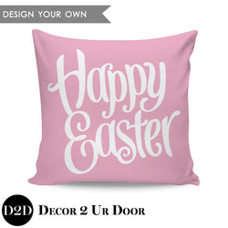 Happy Easter Square Throw Pillow Cover