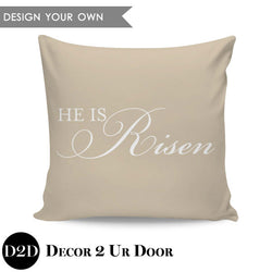 He Is Risen Square Throw Pillow Cover