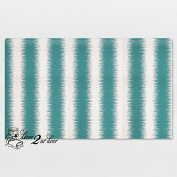 Jade Blue Jiri Stripes Standard Twin Fabric Padded Headboard