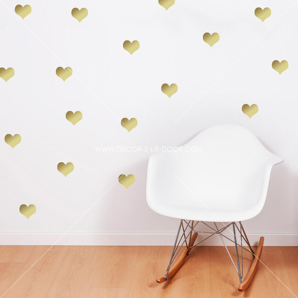 Hearts Vinyl Wall Decals