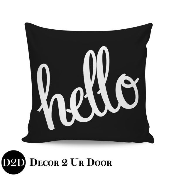 Hello Square Pillow Cover