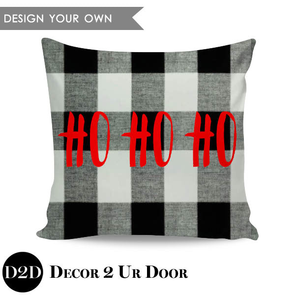 Ho Ho Ho! Square Throw Pillow Cover