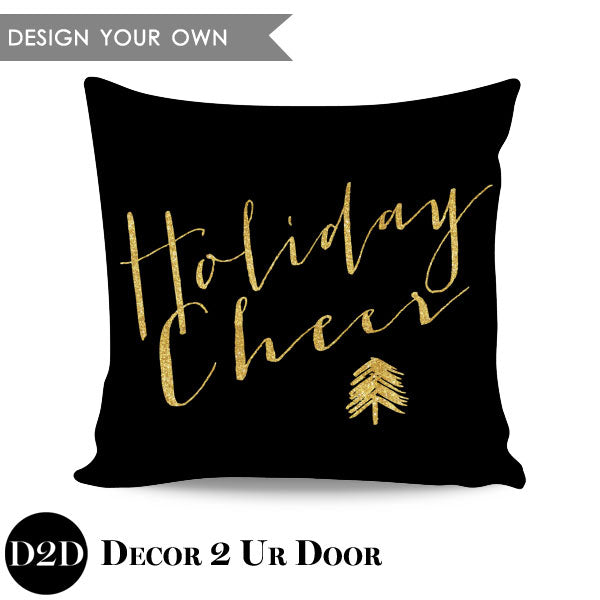 Holiday Cheer Square Throw Pillow Cover