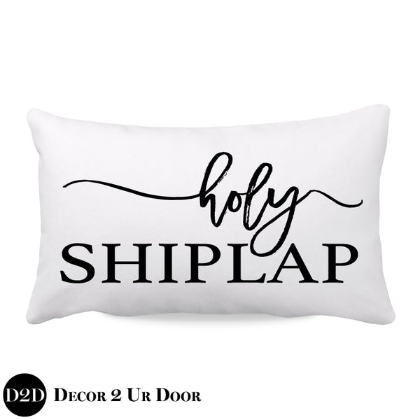Holy Shiplap Farmhouse Lumbar Throw Pillow Cover